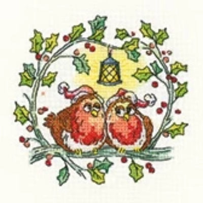 Christmas Robins, Birds of a Feather by Karen Carter - Heritage Crafts