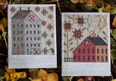 Autumn Saltboxes - Plum Street Samplers