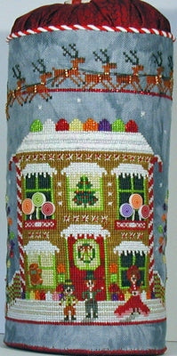 Gingerbread Cottage Drum - Praiseworthy Stitches