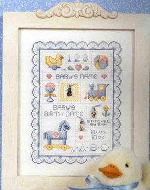 Baby's Sampler - Sue Hillis Designs
