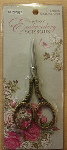 Gold Embossed Round Handle Scissors