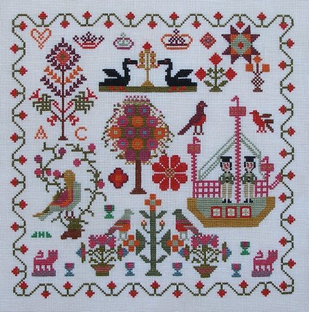 Two Cheeky Sailors c1849 - Queenstown Sampler Designs
