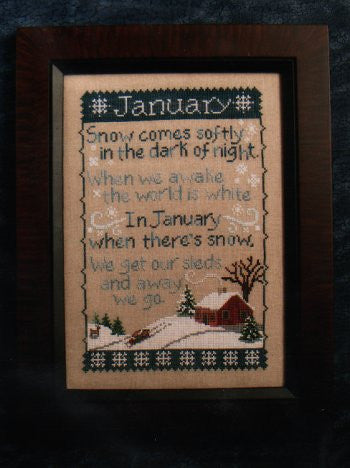 Monthly Sampler Series: January - Waxing Moon Designs