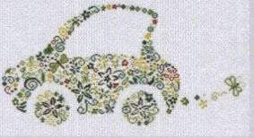 Small Green Car - Alessandra Adelaide Needleworks