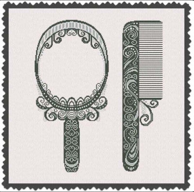 Comb and Mirror - Alessandra Adelaide Needleworks