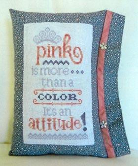 Pink is an Attitude - Cherry Hill Stitchery