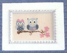 Sweetheart Owls - Cherry Hill Stitchery