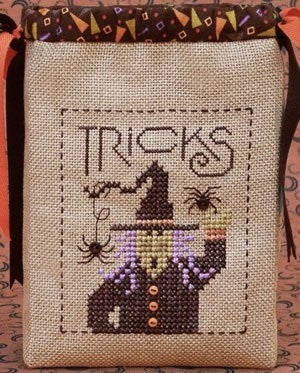 Tricky Witch, Trick or Treat Bag - Drawn Thread