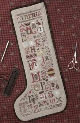 Christmas Thoughts Stocking - Drawn Thread