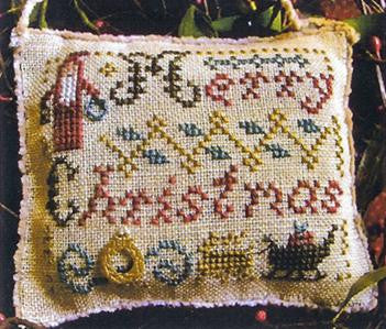 Merry Christmas Wishes, 2014 Sampler Ornament - Homespun Elegance