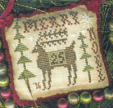 Merry Derry-2016 Sampler Ornament - Homespun Elegance