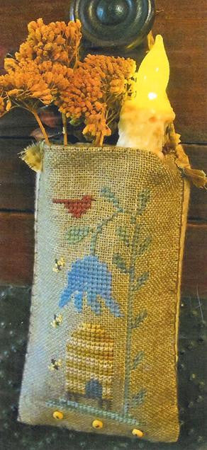 Bee Skep Love, Hanging Pouch - Homespun Elegance