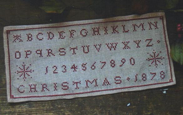 Christmas 1878 Marking Sampler - Pineberry Lane