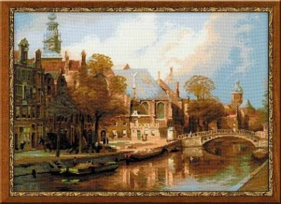 Amsterdam/ The Old Church & Church of St. Nicholas after Klinkenberg's Painting - Riolis