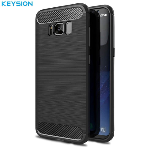 Samsung Cases Carbon Fibre Brushed TPU Case for Samsung Galaxy S8