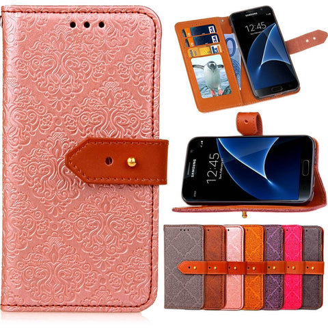 Samsung Wallet Case Leather Wallet Phone Case For Samsung Galaxy S3 S4 S5 S6 S7 S8 Edge Plus