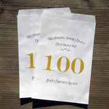 100th Birthday Favor Bags Gold