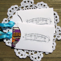 Personalized lottery ticket favor for 100th birthday party favor.