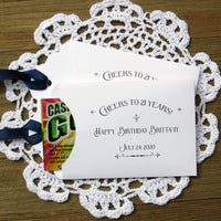 Our 21st birthday party favors are personalized for the guest of honor,