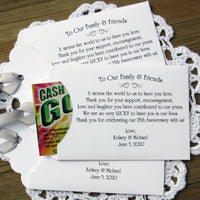25th Wedding Anniversary Favors