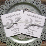 Silver Anniversary Favors