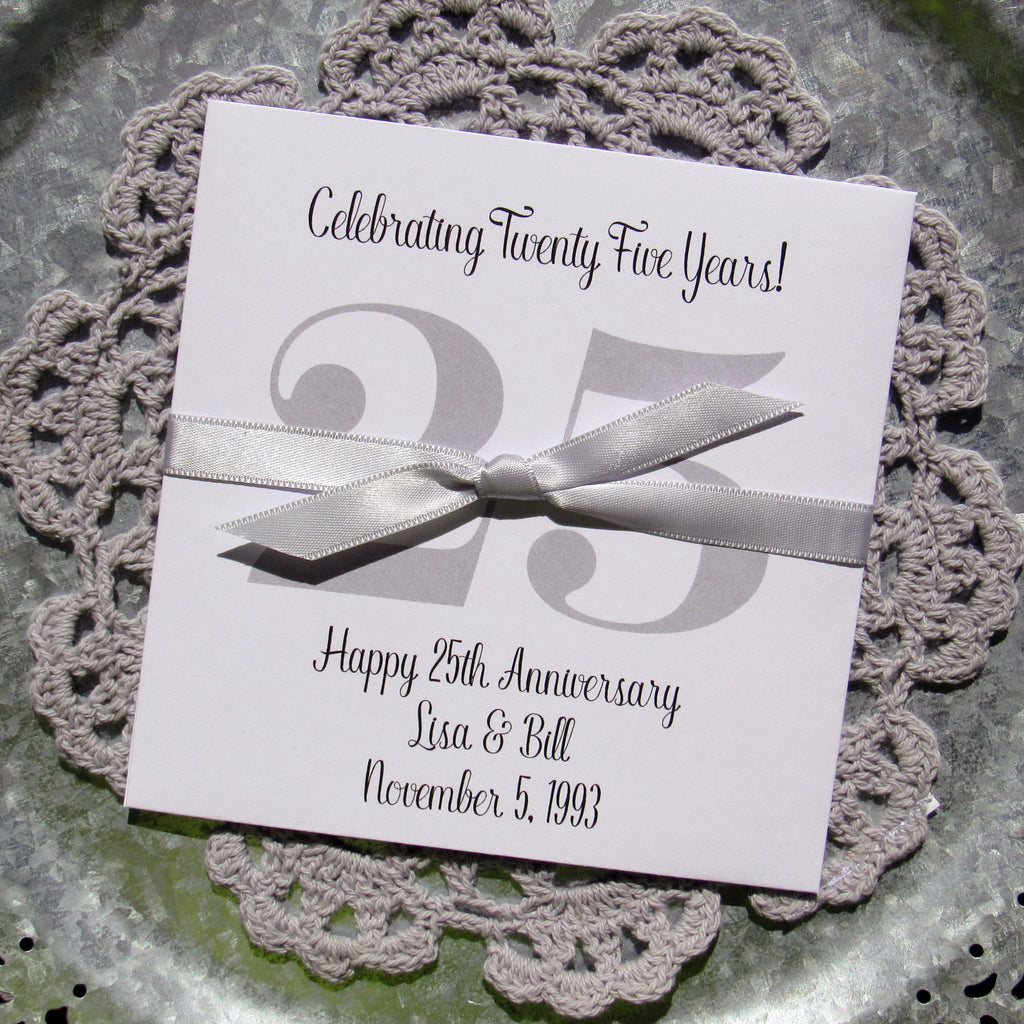 Silver Anniversary Favors – Abbey and Izzie Designs