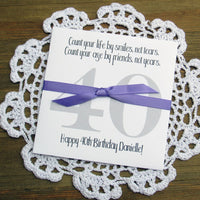 40th Birthday Favors