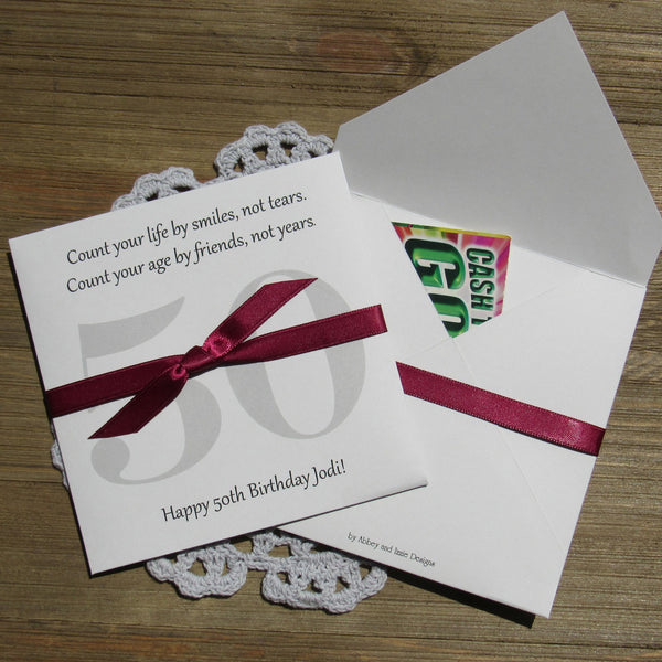 50th Birthday Favors