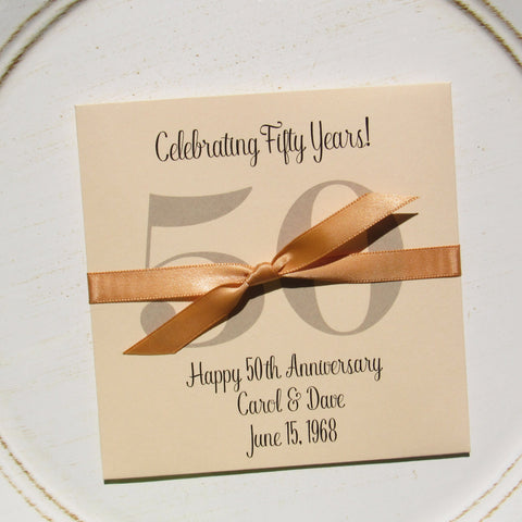 Golden Wedding Anniversary Favors