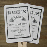 Adult Birthday Party Favor Fans