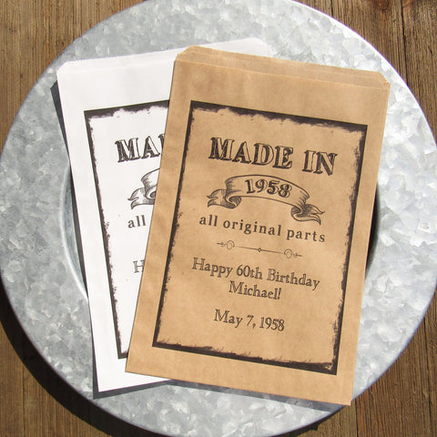Adult Birthday Favor Bags