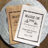 personalized adult birthday favor bags