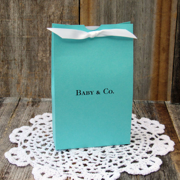 Tiffany Blue Baby Shower Favor Boxes
