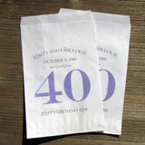 40th Birthday Party Favors Bags that are personalized