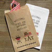 family reunion favor bags or barbecue favors