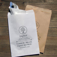 unique family reunion favor bags are personalized