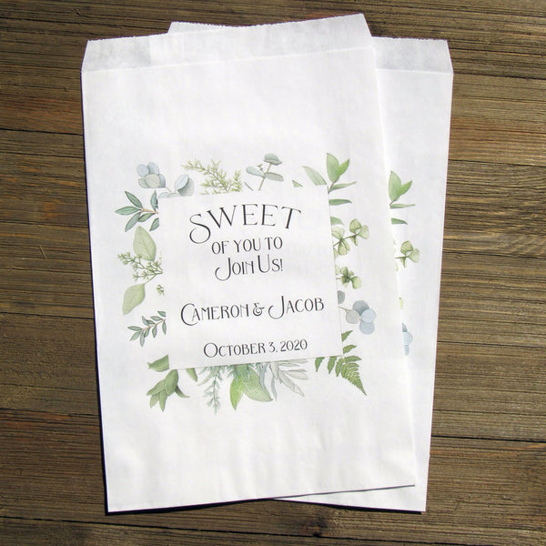 personalized bridal shower candy bags perfect for candy buffet bags
