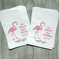 flamingo favor bags