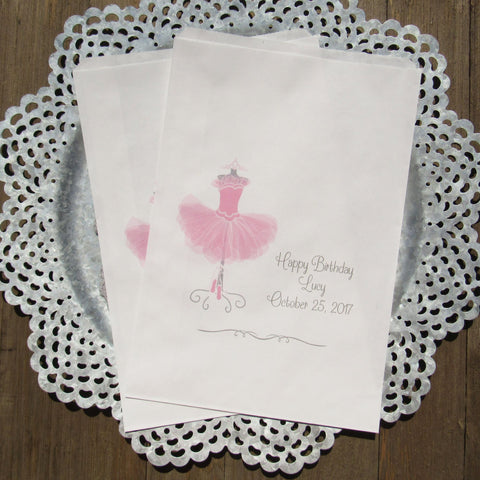 Ballerina Birthday Favor Bags