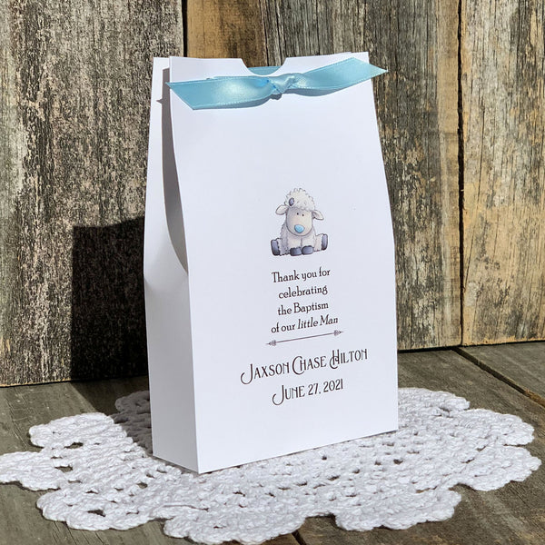 Boy Christening Favor Boxes
