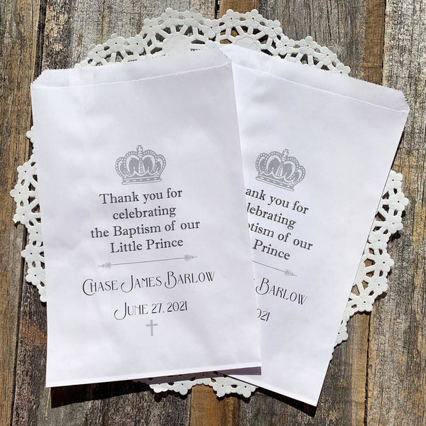 Baptism Favor Bags Baby Boy