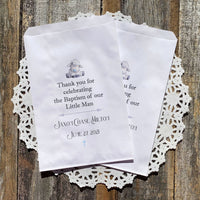 Baby Boy Christening Favor Bags