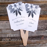 Black and White Wedding Fans