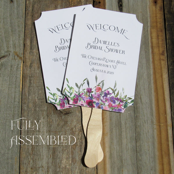 Bridal Shower Favor Fans