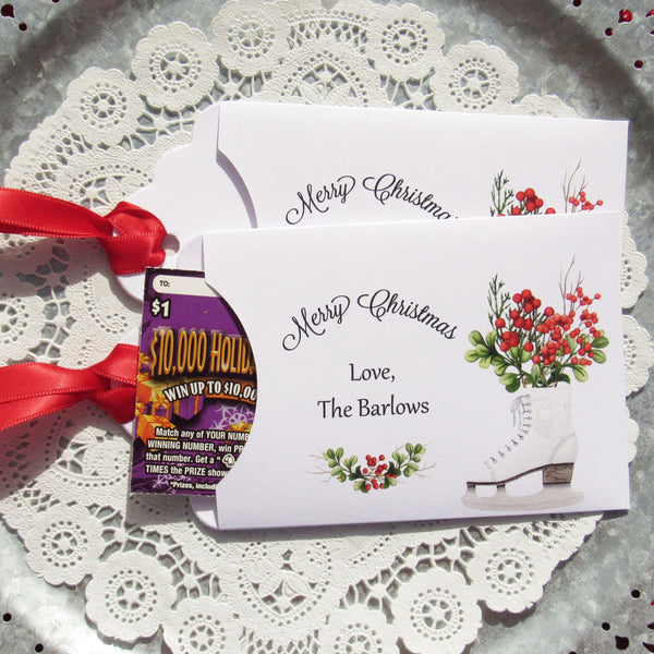 personalized holiday gift card holders