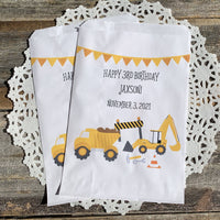 Construction Birthday Favor Bags