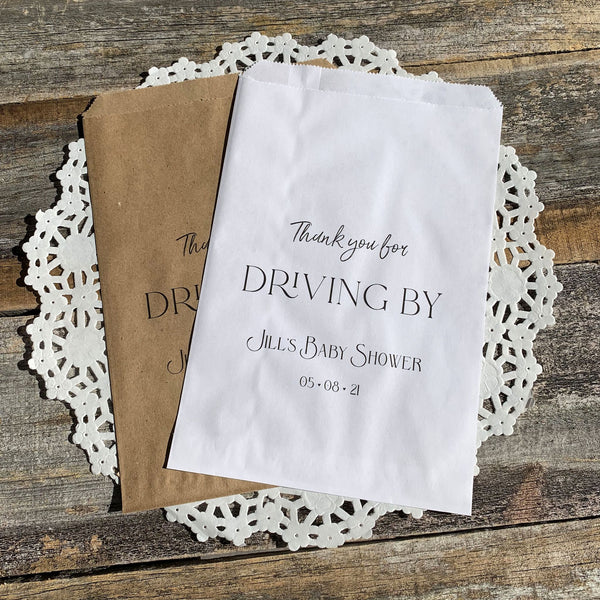 Drive By Baby Shower Favor Bags