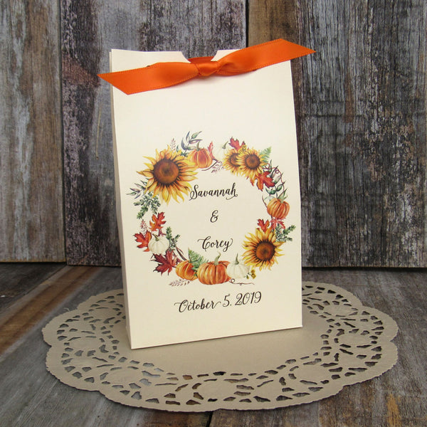 personalized fall wedding favors