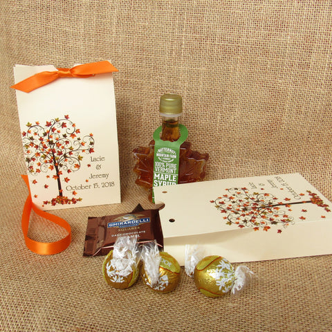 Fall Wedding Favor Boxes