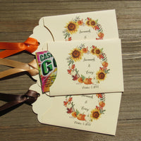 Fall Wedding Guest Favors, lottery ticket favors